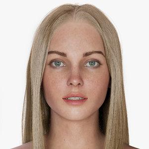 3D woman jean model