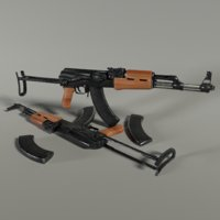 3D akms rifle model