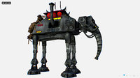 3D metal elephant robot transport