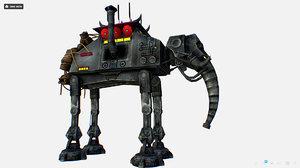 3D metal elephant robot transport