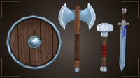 weapons shield set 3D model