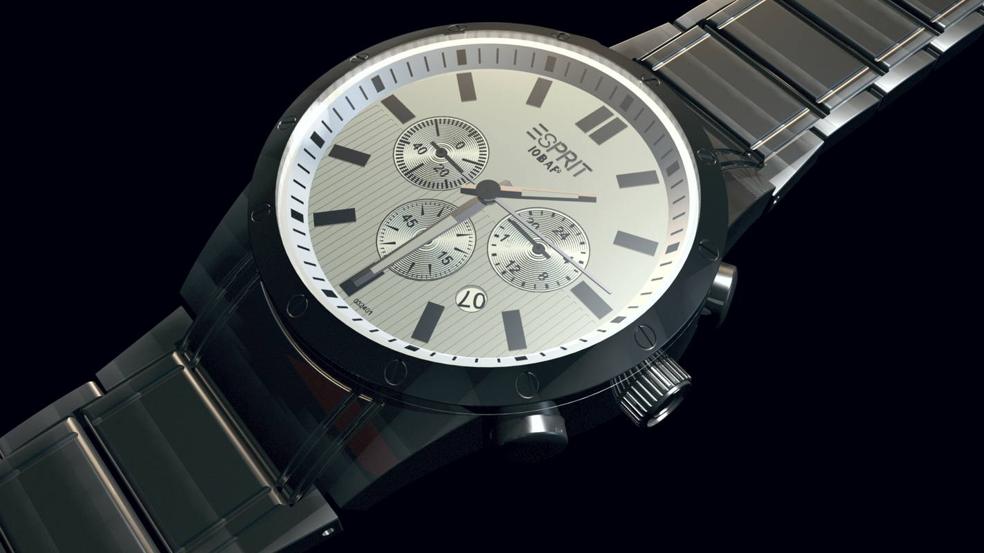 3D watch chrono model