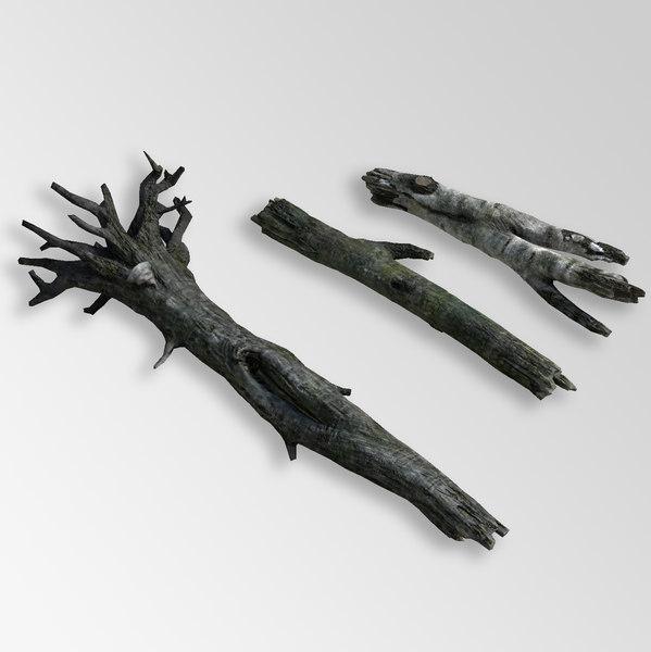 3D tree fallen