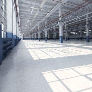 industrial interior 3D model