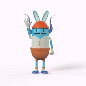 toy monster 3D model