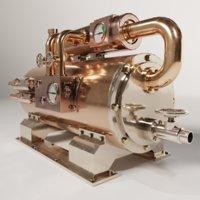 steampunk boiler 03 3D