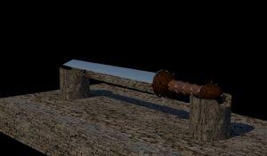 sword gladius 3D model