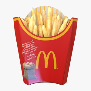 3D french fry box model