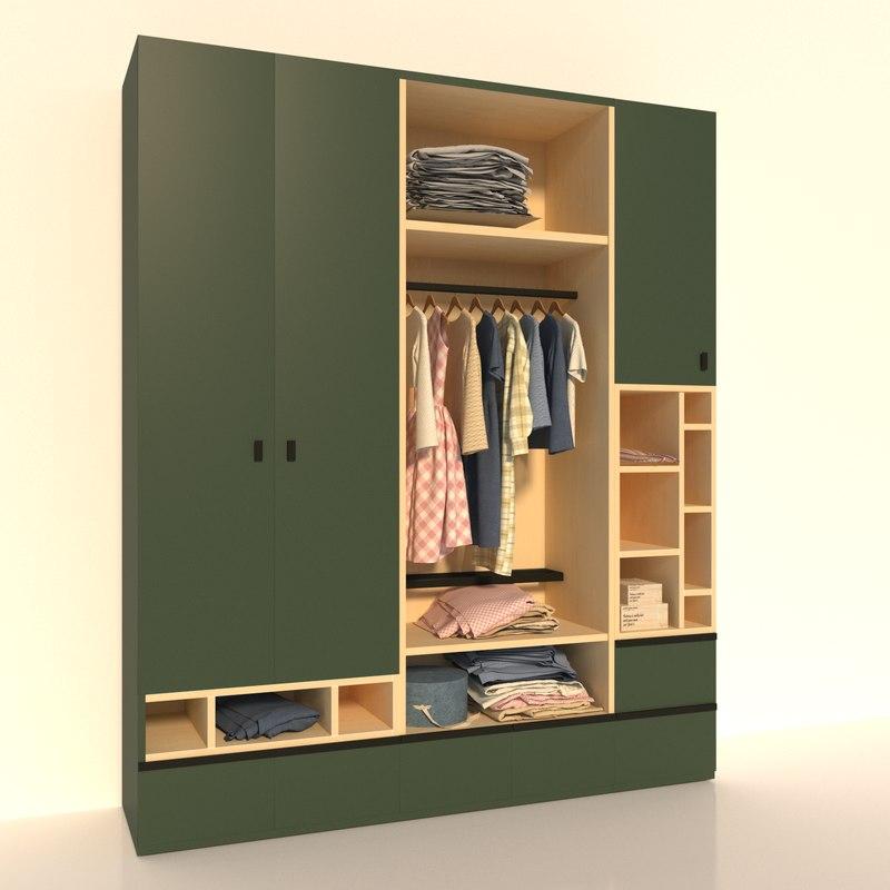closet clothes 3D model