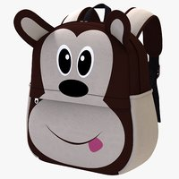 3D model backbag kid