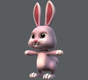 rabbit v01 cartoon animal model