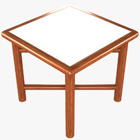 3D folding picnic table