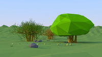 tree benghalensis Low Poly