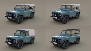 1985 land rover defender 3D