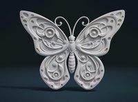 butterfly relief 3D model