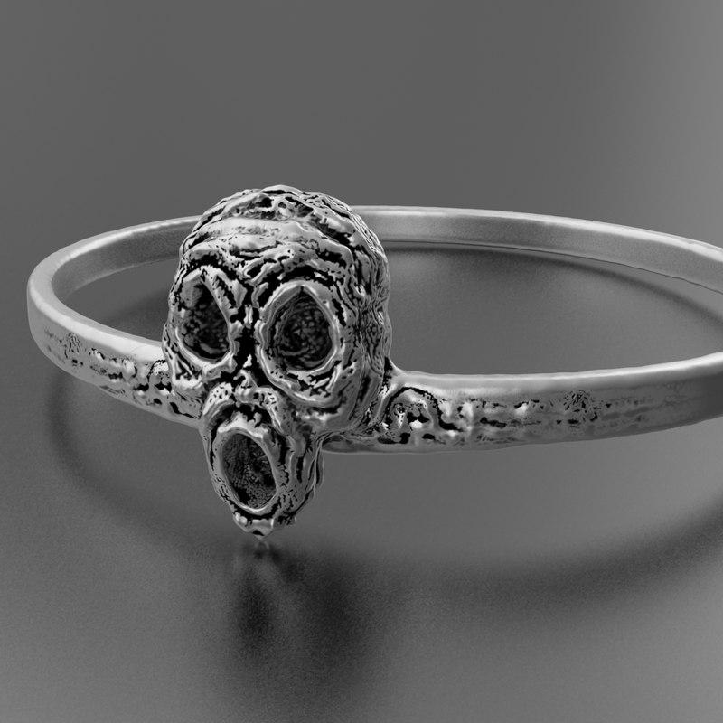 3D halloween ring jewelry model