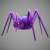 spider cartoon 3D model