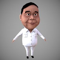 3D prabowo model