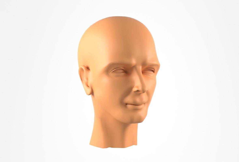 3D realistic head man model