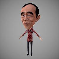 jokowi president indonesia 3D