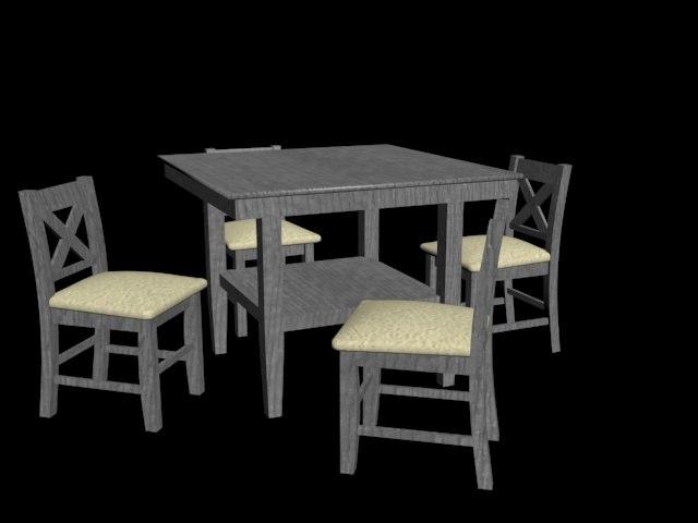 coffee table set 3D model