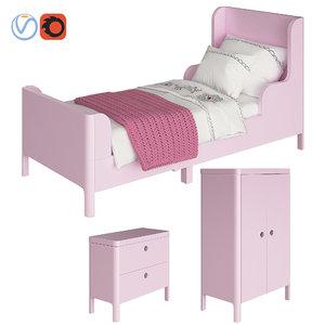 3D furniture ikea busunge model