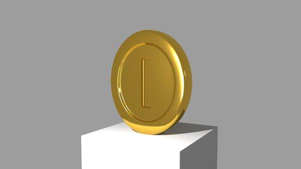 3D model coin super mario