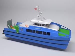 3D catamaran water model