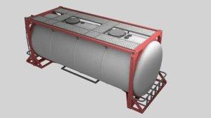 3D model fluid tank