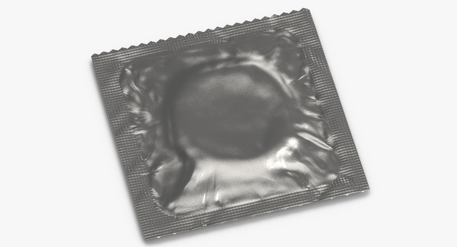 condom wrapped silver 3D model
