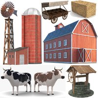farm modeled barn model