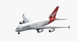 a380 qantas 3D model
