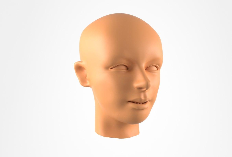 woman head 3D