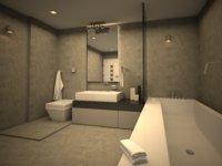 beautifull bathroom model