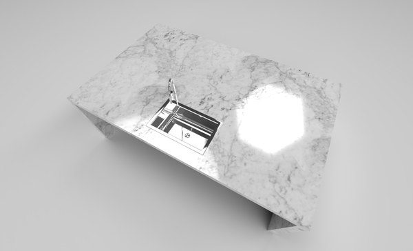 3D table marble sink