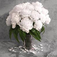 3D giant peonies flowers model