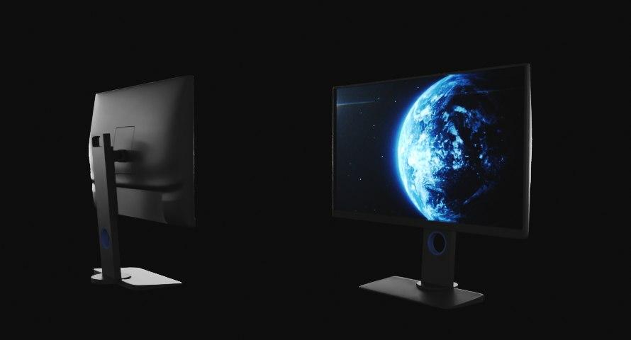 3D gaming monitor model