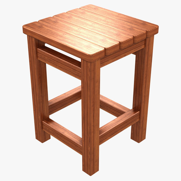 picnic stool 3D model