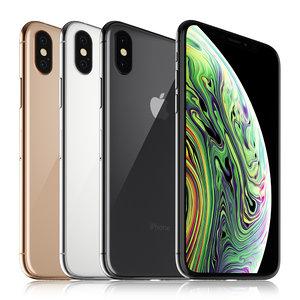 3D apple iphone xs colors