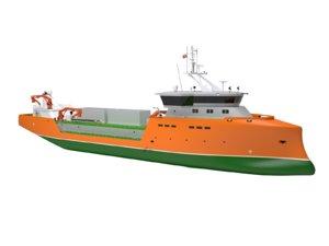 3D salmon carrier ship model