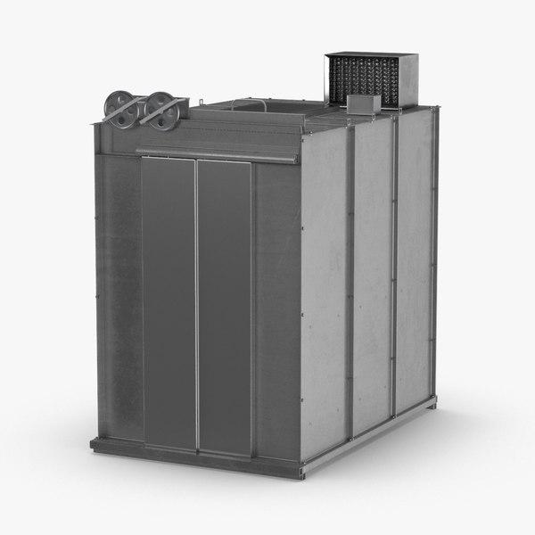 3D model elevator-car---doors-closed