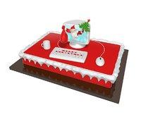 merry christmas cake model