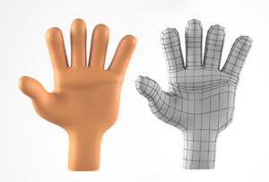 3D hand cartoon character model