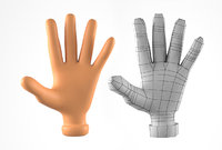 hand cartoon character 3D model