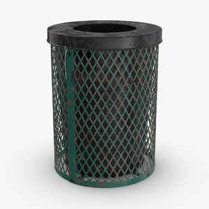 trash-can-02---dirty 3D model
