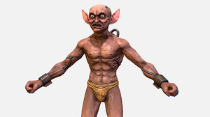 character gorllum alien troll 3D model