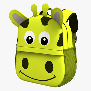3D backbag kid v2 model