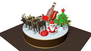 cake christmas 3D