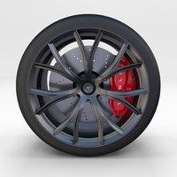 tesla roadster wheel 3D model