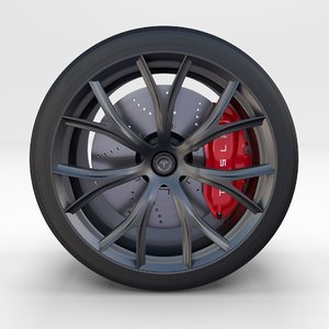 tesla roadster wheel 3D model
